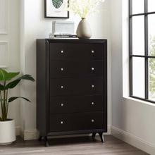 Providence Five-Drawer Chest or Stand in Cappuccino