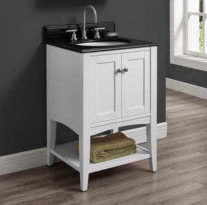"Shaker Americana 24"" Open Shelf Vanity - Polar White Product Image"