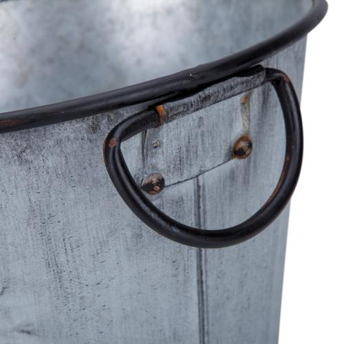 Marin Galvanized Round Planters - Set of 3