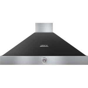 Hood DECO 48'' Black matte, Chrome 1 power blower, analog control, baffle filters