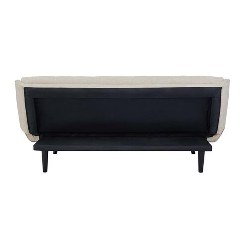 Glance Tufted Convertible Fabric Sofa Bed in Beige