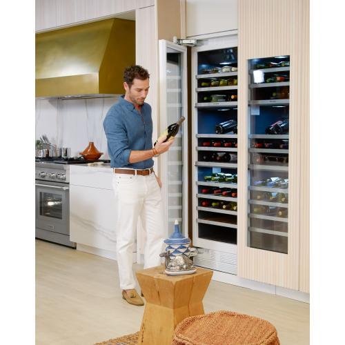 Thermador - Wine cooler with glass door 18'' T18IW905SP
