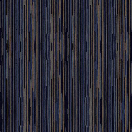 Flash Furniture - 18.5''W Church Chair in Canyon Tartan Blue Fabric with Book Rack - Gold Vein Frame