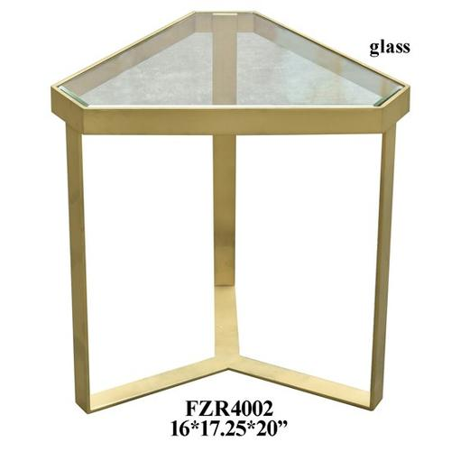 Crestview Collections - Melrose Gold Triangle Accent Table