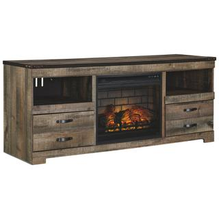 """See Details - Trinell 63"""" TV Stand With Electric Fireplace"""