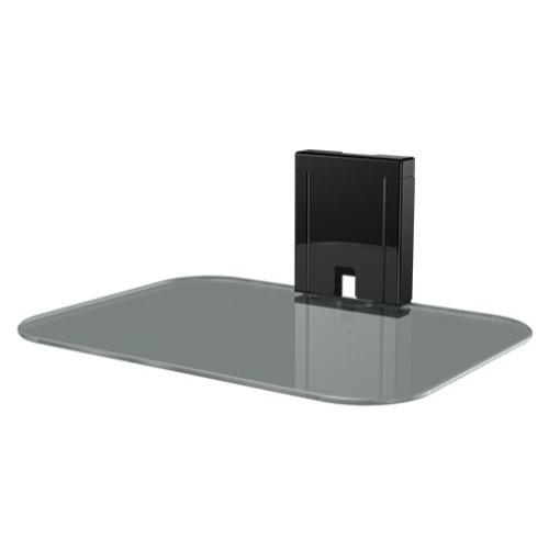 Tempered Glass On-Wall AV Component Shelf