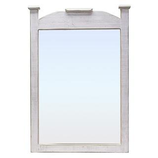 Weathered White Econo Mirror