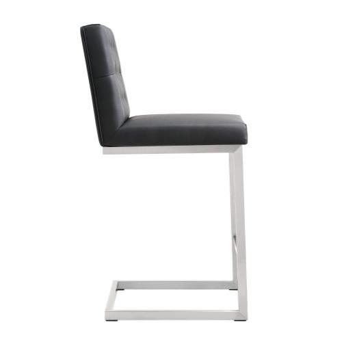 Tov Furniture - Helsinki Black Stainless Steel Counterstool (Set of 2)