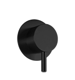 "Volume Control 1/2"" Trim Kit, RND + Lever, Black Product Image"