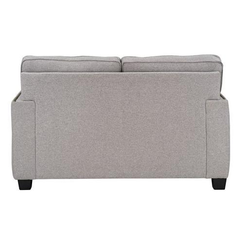 Carmelle Upholstered Loveseat, Granite