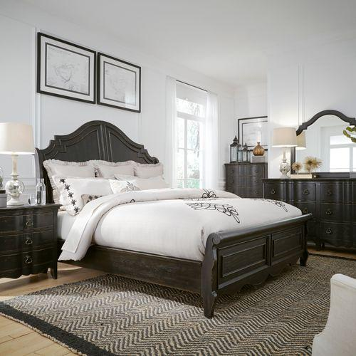 Liberty Furniture Industries - King Sleigh Bed, Dresser & Mirror, Night Stand