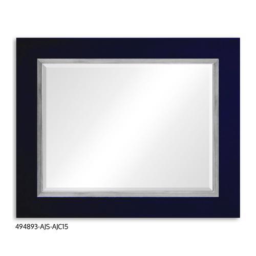 """Homespun"" mirror (British Navy/Silver)"