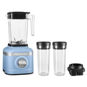 K150 3 Speed Ice Crushing Blender with 2 Personal Blender Jars - Blue Velvet