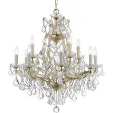 Maria Theresa 13 Light Swarovski Strass Crystal Gold Chandelier