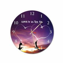 Love Is In the Air Round Acrylic Wall Clock