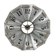 ALUMINUM AND ROPE WALL CLOCK