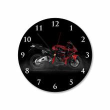 Red Honda Bike Round Acrylic Wall Clock