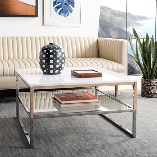 Safavieh - Randi 2 Tier Square Coffee Table - White