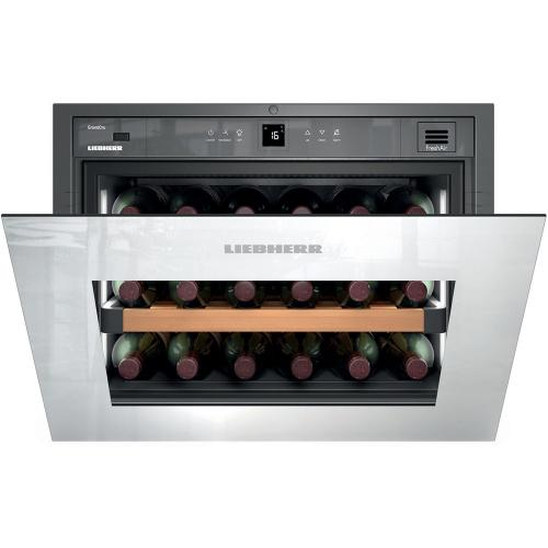 Product Image - Integrated Wine Cabinet 18 Bottle Single Zone White Pull Down Door