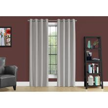 """See Details - CURTAIN PANEL - 2PCS / 52""""W X 95""""H SILVER SOLID BLACKOUT"""
