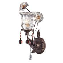 Cristallo Fiore 1-Light Wall Lamp in Deep Rust with Clear and Amber Florets