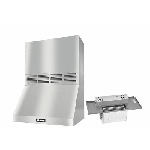 """DAR 1220 Set 4 Wall-Mounted Range Hood With Circulation Mode with integrated XL motor including 18"""" chimney cover"""