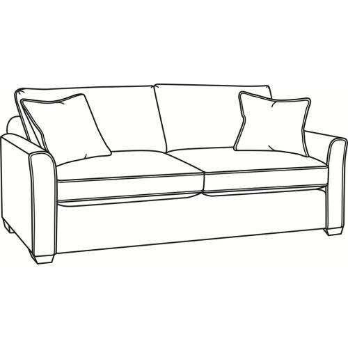 Charleston Queen Sleeper Sofa with Wood Feet