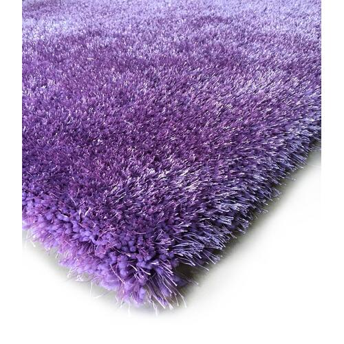 Shaggy Viscose Solid S.V.S. - Purple / 4' x 5'4""