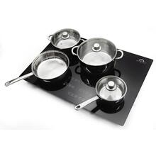 "FORNO Bezozzo - 30"" Induction Cooktop with Pan Kit Set, set of 7"