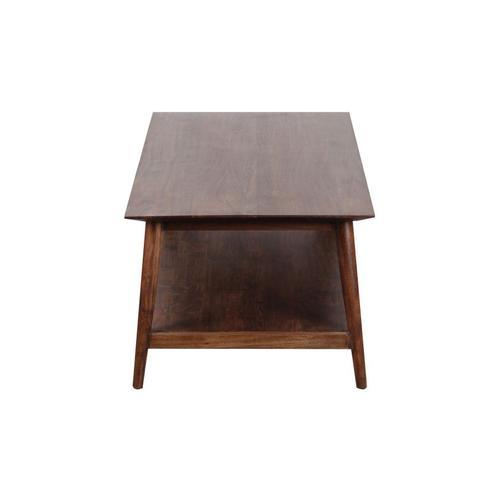 Portola Walnut Coffee Table with Shelf, 2005-001WW