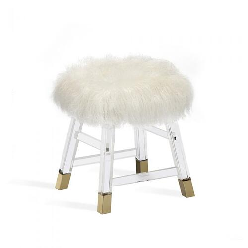 Reva Stool - Ivory Sheepskin