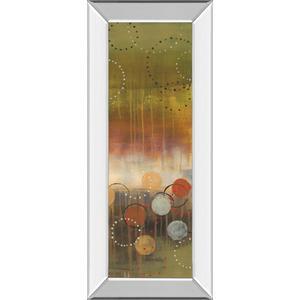 "Classy Art - ""Circles In Green Panel Il"" By Jeni Lee Mirror Framed Print Wall Art"