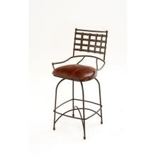 Steel Traditions - Rouen Swivel Barstool With Leather Seat