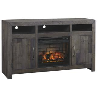 """See Details - Mayflyn 62"""" TV Stand With Electric Fireplace"""