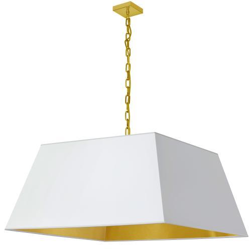 Product Image - 1lt Milano X-large Pendant, Wht/gld Shade, Agb