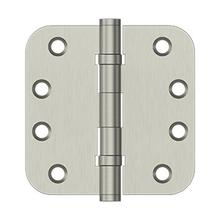 "4"" x 4"" x 5/8"" Radius Hinges, Ball Bearing - Brushed Nickel"