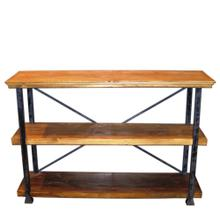 See Details - Rustic Pine 3 Tiered Bookcase