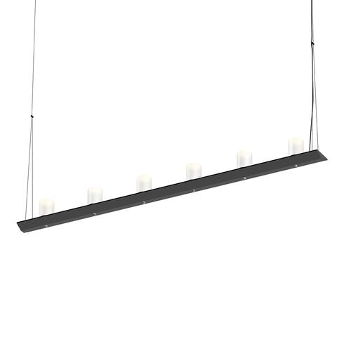 "Sonneman - A Way of Light - Votives LED Bar Pendant [Size=4', Color/Finish=Satin Black, Shade Size=3"" height x 2.25"" diameter]"