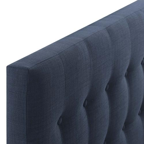 Emily Twin Upholstered Fabric Headboard in Navy