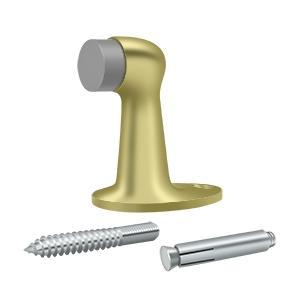 """Floor Door Bumper 2-7/8"""", Solid Brass - Polished Brass"""
