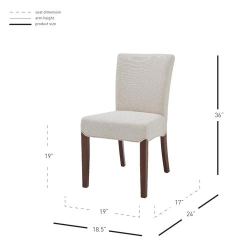 Beverly Hills Fabric Dining Side Chair, Cardiff Cream
