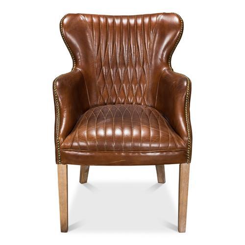 Dieter Petite Wing Chair, Vintage Cigar