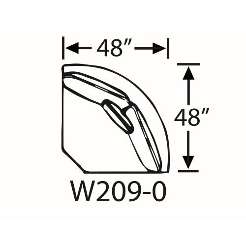 Capris Furniture - Sectional Component-Armless Wedge