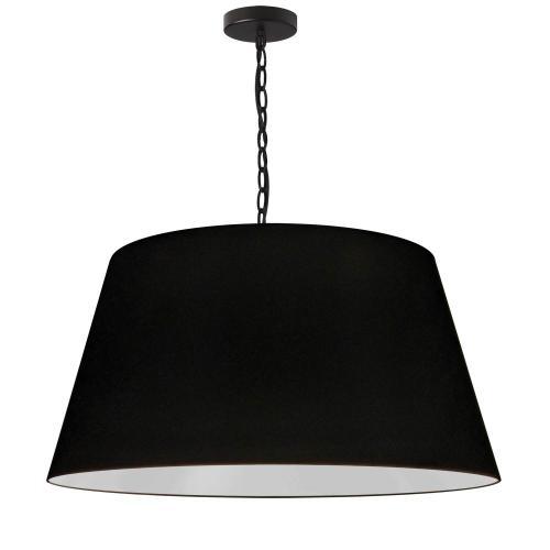 1lt Brynn Large Pendant, Blk Shade, Black