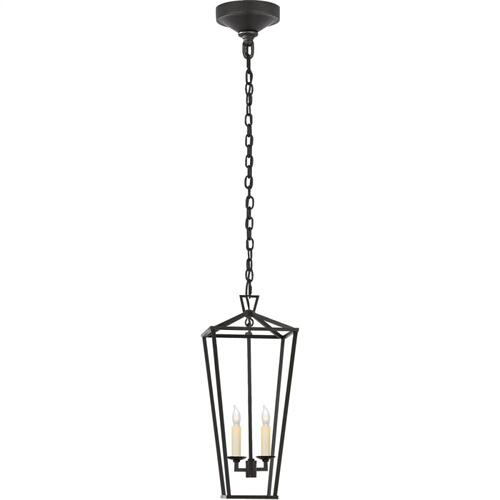 Visual Comfort CHC2185AI E. F. Chapman Darlana 2 Light 8 inch Aged Iron Foyer Lantern Ceiling Light, Medium Tall