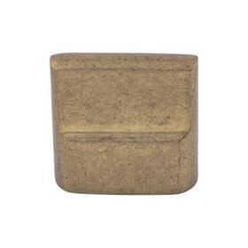 Aspen Flat Sided Knob 7/8 Inch (c-c) Light Bronze