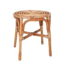 See Details - Antik Round Rattan Stool