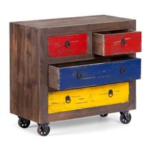 See Details - Multicolor Distressed Natural Ramsell Cabinet