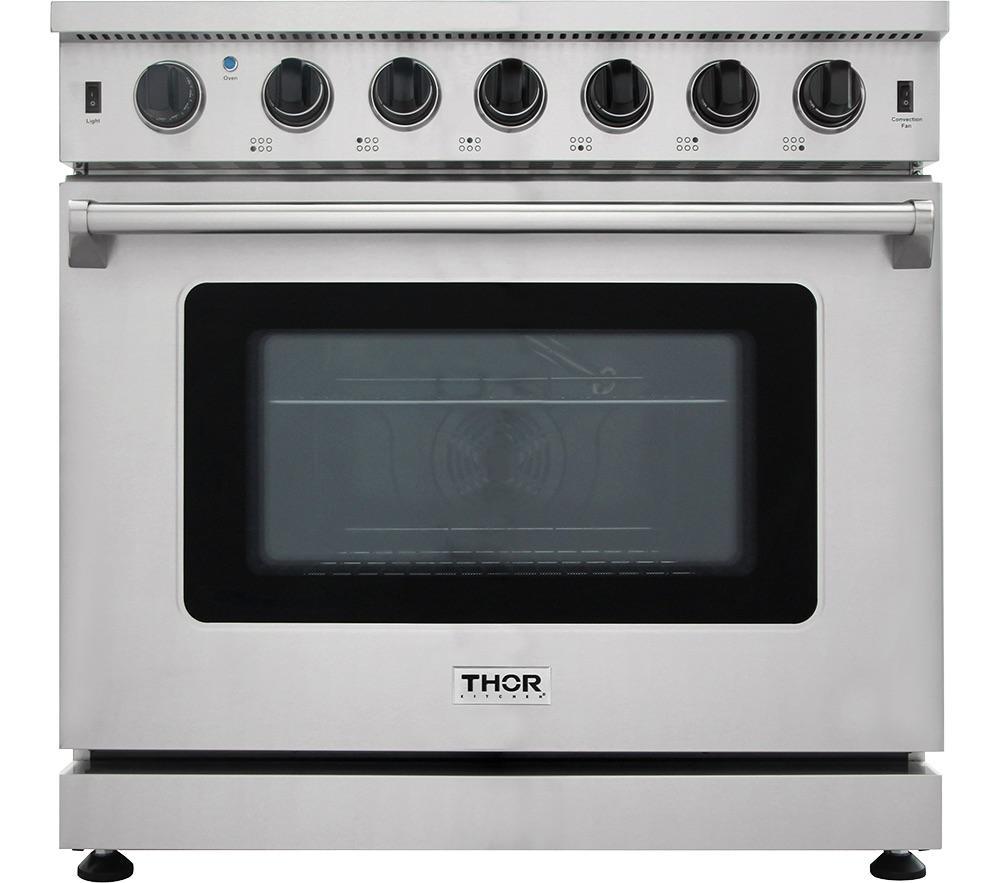 Thor Kitchen36 Inch Gas Range In Stainless Steel