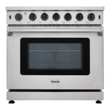 36 Inch Gas Range In Stainless Steel - Liquid Propane